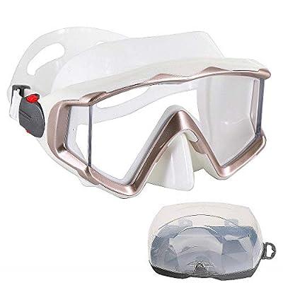 AQUA A DIVE SPORTS Scuba Snorkeling Dive Mask for Scuba Diving Snorkeling Free Diving (Transparent White)