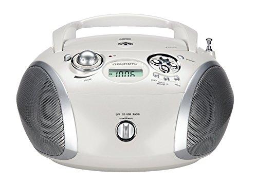 Grundig GRB 2000 Tragbare Radio Boombox weiß/silber