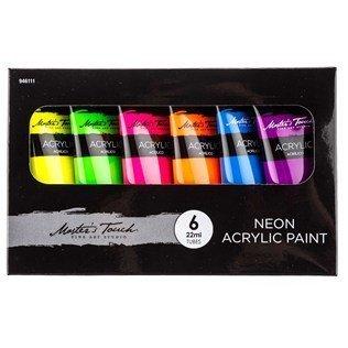 neon acrylic paint set - 5