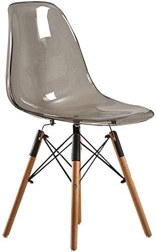 Sessel FHW Acryl-Stuhl, Nordic Fashion Dinette, Plastikstühle Lässige Kaffee Kreativität (Color : Transparent Gray, Size : 41x46x81CM)