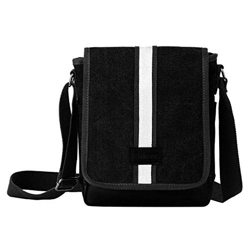 Eshow Men Shoulder Bag Canvas Small Satchel Bag ipad Crossbody for Mens Small Messenger...
