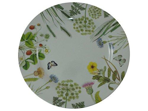 Gilde Placa plana de 27 cm Porcelana Bone China Flores silvestres Bella Vita
