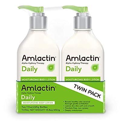 AmLactin Daily Moisturizing Body Lotion 7.9 Ounce (Pack of 2) Bottles, Paraben Free