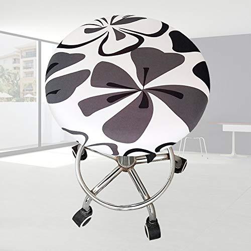 Funda para taburete redondo, cojín de asiento para taburete, suave elástico para las cuatro estaciones, estampado floral para asiento de bar o casa, 1, Tamaño libre