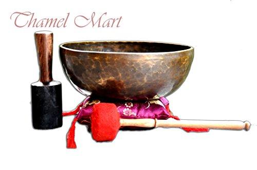 """12"""" Master healing singing bowl,Meditation bowl,Tibetan Bowls, free singing bowl cushion,striker and drum stick."""