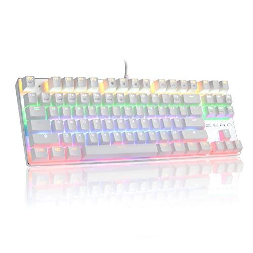 Mechanical Gaming Keyboard,HiveNets 87 Keys Blue Switches Anti-Ghosting RGB...