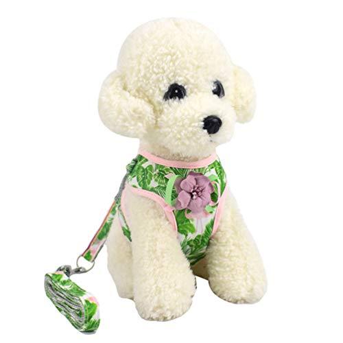 YiiJee Tierbedarf Hundehalsband Haustier Einstellbare Haltbare Haustier-Hundegeschirrhalsband Atmungsaktive Haustiergeschirr-Weste Als Bild2 L
