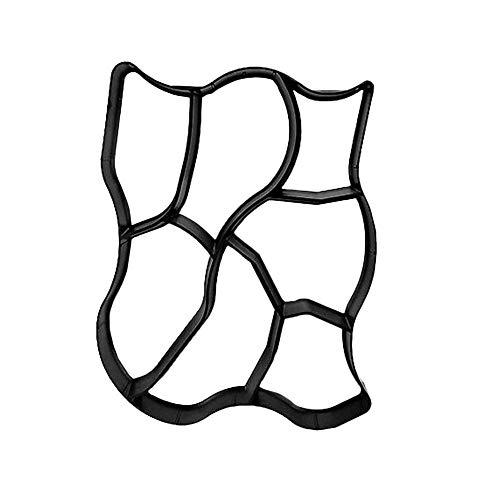 Gehweg Plastikformen Form Betonform Gießform von Gehwegen Schalungsform für Beton Gehwegplatten für Garten 60 x 50cm