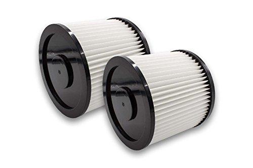 Vhbw 2x Filtre rond pour aspirateur multifonction compatible avec Shop-Vac 7408 P, Euromac V 10, Hobby Vac 1000, Plus 1001