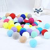 handfly Brinquedos com bolas de gatos, bolas elásticas para gatos, brinquedos com bolas de pompons para gatos, brinquedos com bolas coloridas para gatinhos, brinquedos