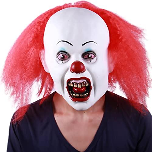 PYapron Mscara Espeluznante para Halloween, Mscaras de Terror Cosplay terrorista, mscara de Demonio Realista de ltex para Disfraz de Halloween Cosplay Accesorios Fiesta Props,Style 10