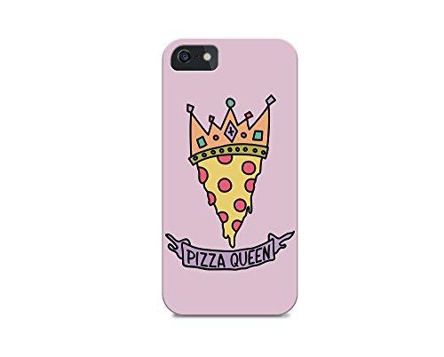 iPhone 6/iPhone 6S TPU Plastic Case - Pizza Queen - Pizza - Quote - Quotes - Pizza Quote - Sassy - Sassy Quote - Pink