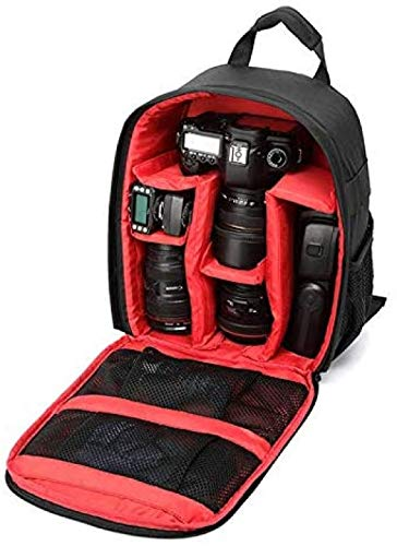 DDH Bolsa de cámara de Mochila Digital Bolsa de cámara SLR a Prueba de Agua a Prueba de Agua (25,0 cm * 15.0 cm * 34.0 cm)-Red|| 25 * 15 * 34cm