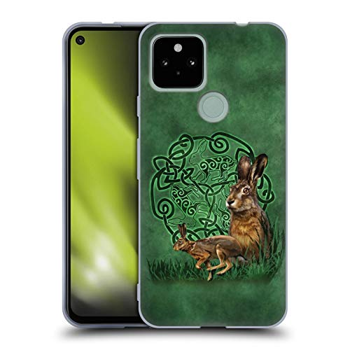 Head Case Designs Officially Licensed Brigid Ashwood Hare Celtic Wisdom 2 Soft Gel Case Compatible with Google Pixel 4a 5G
