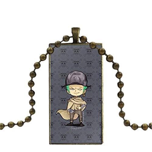 WXWXYS For Women Fashion Jewelry Japanese Anime One PieceDesign Fashion Vintage Glass Women Rectangle Necklace Pendants