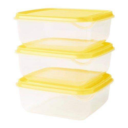 IKEA Pruta Vorratsdosen, Gelb, 3 Stück