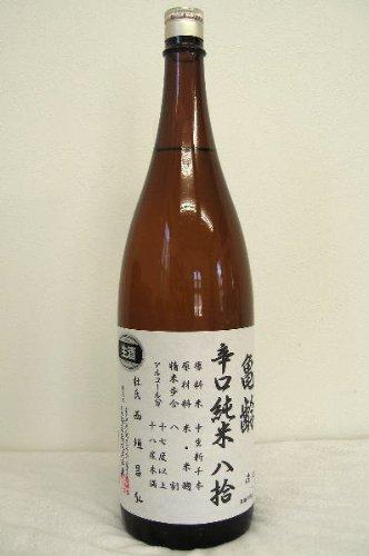 亀齢辛口純米原酒八拾【生】 1800ml