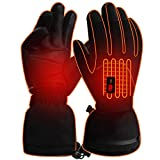 IFWATER Men Woman Heated Gloves Heated Work Gloves Battery Electric Gloves for Sailing Skiing Hunting (7.4V PU Gloves, L)