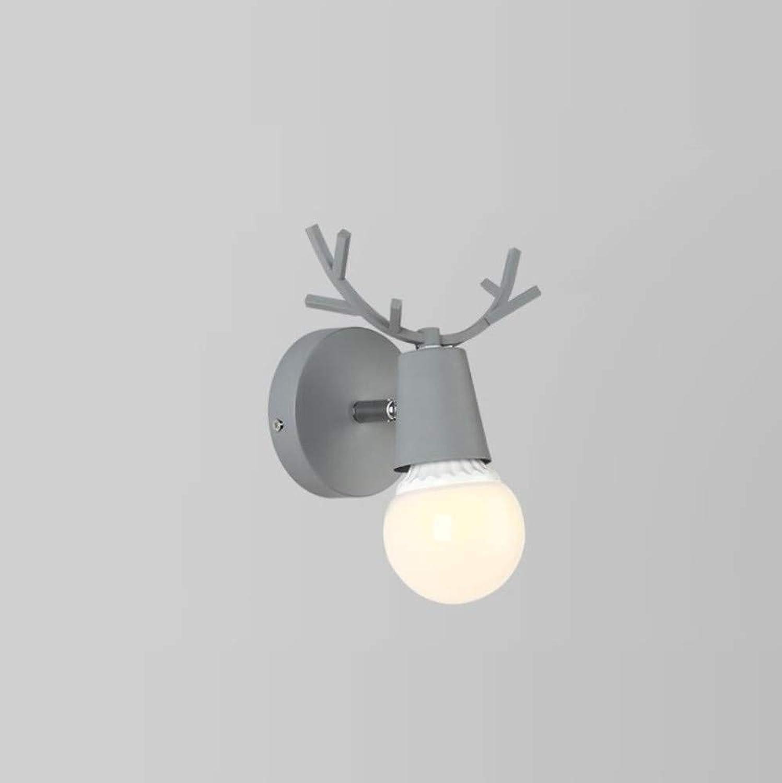 OwentsWall Lamp Nordic grau Wandleuchte Modern Minimalist Bedside Lamp Wandleuchte Fashion Creative Led Antler Schlafzimmer Wohnzimmer Ganglichter
