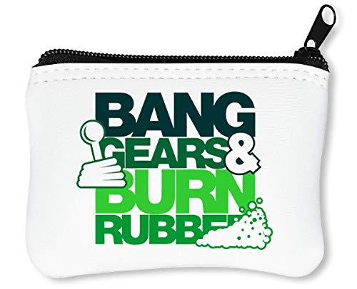 Bang Gears Burn Rubber Billetera con Cremallera Monedero Caratera