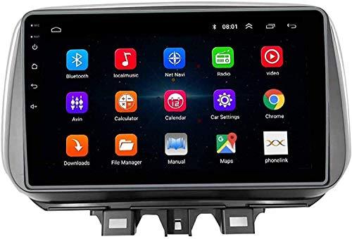AEBDF Android 10.0 GPS Navegación para Tucson 2018, Pantalla táctil de Radio Stereo IPS de automóvil, Auto Sat Nav SWC Online/Offline Map Multimedia Player,8 Core 4g+WiFi 4+64g