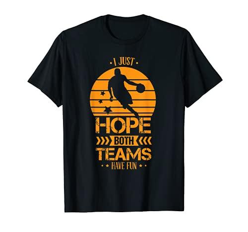 retro vintage Solo espero que ambos equipos se diviertan con Camiseta