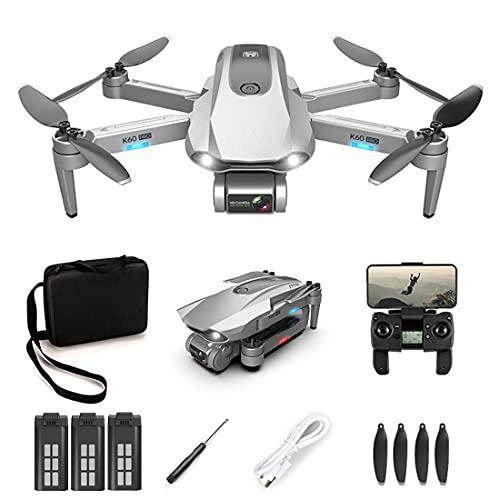 Kai K60 Pro - Drone RC pieghevole con doppia fotocamera da 6 K, per bambini e adulti, 1,2 KM, 5 G, WiFi FPV, GPS, drone senza spazzole Quadcopter, tempo di volo 30 minuti