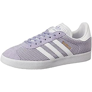 adidas Women's Gazelle Low-Top Sneakers, Purple (Easy Purple/Footwear White/Easy Purple), 6 UK