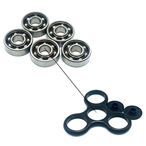 LONMAX 5pcs/Pack 608 Steel Ball Bearing 8mm x 22mm x 7mm