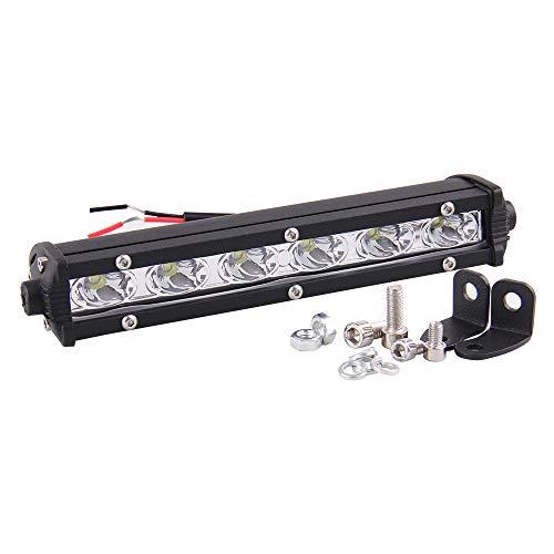 CarBole 7 Zoll 18W LED Leuchtbalken 12V 24V arbeitsscheinwerfer Bar einreihig Lichtstrahl Offroadd Nebelscheinwerfer für Auto LKW Pickup ATV SUV Boot