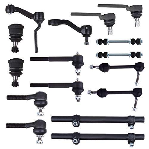 LSAILON 16 piezas de barra estabilizadora trasera/delantera con barra de acoplamiento frontal interior…