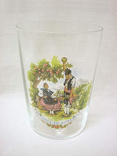 Dkristal Set 6 Vasos Cristal Sidra Sella con Calca Decorado Recuerdo DE Asturias ESCANCIANDO 500ML