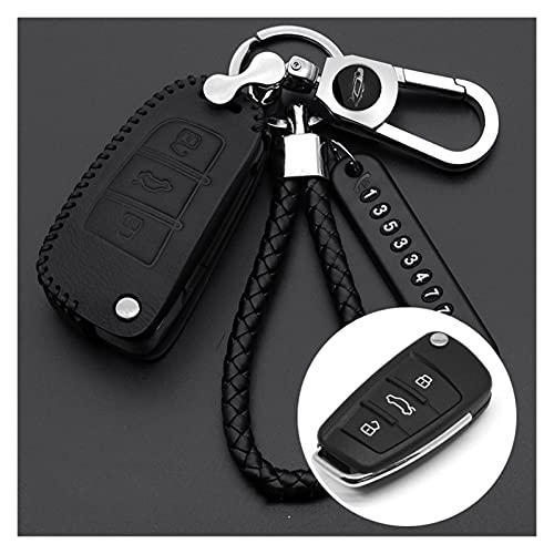 LakerBig Coche Coche Cubierta Cobre DE Cuchilla FIT FIT FOR Audi A3 A4 A4L A5 A6 Q3 Q5 Q7 B6 B7 B8 B9 8V C5 C6 C7 S6 S7 S8 TT TTS Accesorios (Color Name : A Black)