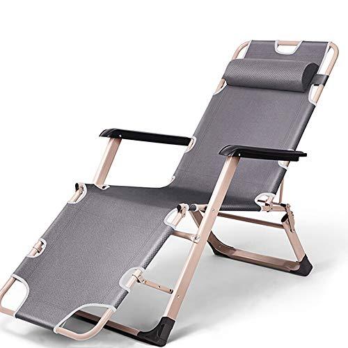 YQAD - Tumbona Plegable de Metal para el hogar, Oficina, jardín, Patio, Playa, Camping, Alta Tumbona, Material, 3, Size 0.00watts