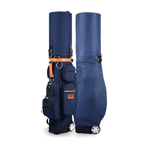 JJSFJH Bolsas de golf de carro portátil con ruedas, bolsas de golf de golf a prueba de agua a prueba de agua ligero, con bolsa de termostato y cerradura de combinación, bolsa de golf para hombres y mu