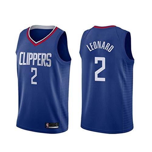 canottejerseyNBA Kawhi Leonard - Los Angeles Clippers #2, Basket Jersey Maglia Canotta, Swingman Ricamata, Abbigliamento Sportivo (Blu, M)