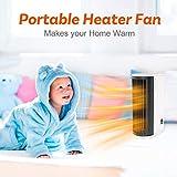 Zoom IMG-2 mini termoventilatore torre oscillante compatto