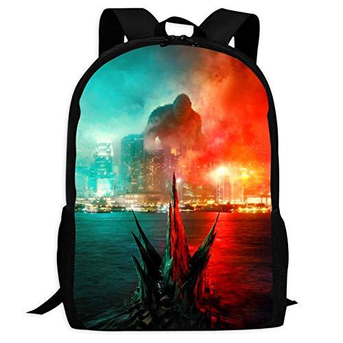 God-Zilla vs Ko-ng 2021 Mochila ligera de hombro escolar bolsa de viaje bolsa de viaje