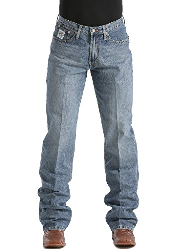 Cinch Men's White Label Relaxed Fit Jean, Medium Stone Wash, 32W x 34L