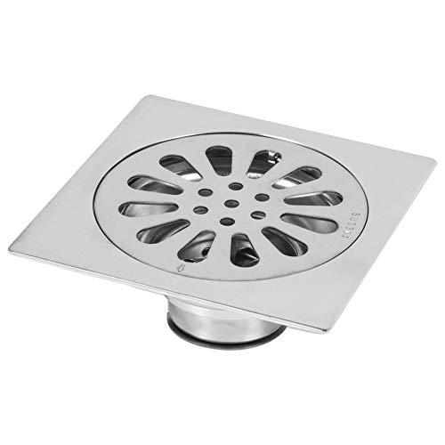 Dick Edelstahl Quadrat Anti-Geruch Badezimmer Boden Abfluss Abdeckung Abfall Tor Duschablauf ( Style : #3 )