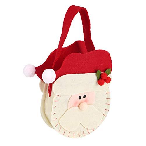 Changor Dolce Natale Caramella Borsa, Alce Dimensione Non-Intrecciata Tessuto Santa Clau S Dimensione Pupazzo di Neve Dimensione per Natale Giorno