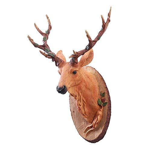 Decoración de la pared Escultura de Pared Animal, Ciervos 3D de Pared Decorativos mamífero IKEA Discoteca baño Lámina Decorativa estética Estatua Escultura de Pared de Navidad Regalo de Animales