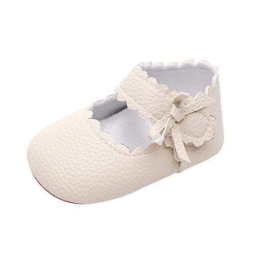 UROSA BabyToddler NewbornGirls Boys Soft Sole Wave Bowknot Shoes ,Best Shoes to Help Baby Start Walking