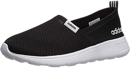 adidas NEO Damen Lite Racer Slip On W Casual Sneaker, Schwarz (Schwarz/Schwarz/Weiß), 39.5 EU