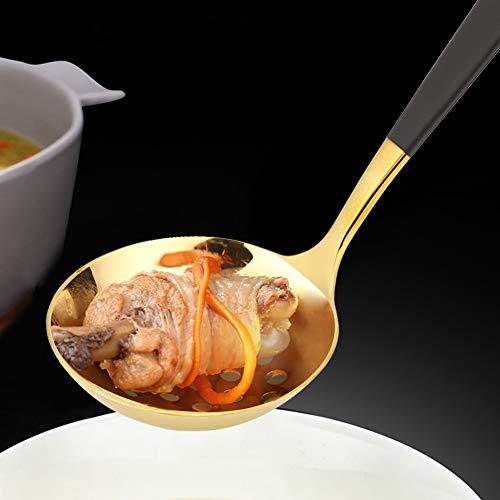 Uxsiya Cucchiaio con Fessura per mestolo da minestra 19 cm per la costata di Maiale per la casa