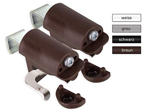 KLEMMFLEX Klemmträger BFX25 für Jalousien zur Montage direkt auf den Fensterflügel ihres PVC-/Kunststofffensters - Farbe: braun - OHNE Bohren - 1 Paar = 2 Stück
