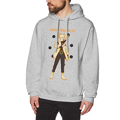 Cool Naruto Ashura Men's Long Sleeved Black Pullover Sweatshirts Hoodies (No Pocket)