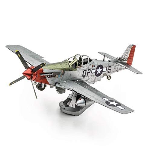 Metal Earth MAQUETA / Puzzle 3D De Metal. - Mustang P-51D Sw