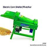 DreamLab Electric Corn Thresher Sheller Motor Powered Maize Sheller Corn Huller Threshing Stripping...