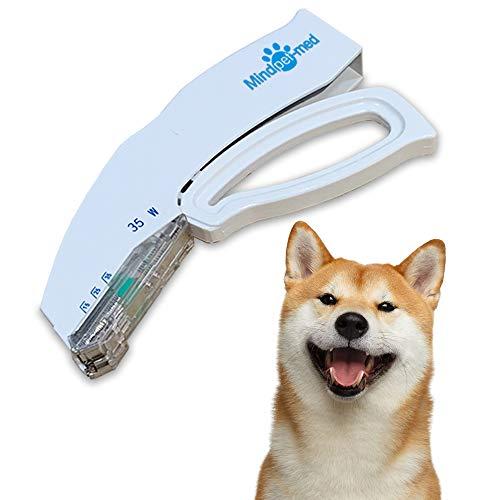 OneTwoThree Zehn Einweg-Hautklammern für Haustiere, EIN Heftgerät Entferner Set als Geschenk, je 35 Klammern Hautheftklammern CE-Zertifizierung, geeignet für Erste Hilfe und Training